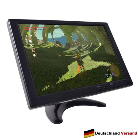 GAMING MONITOR 10 1 HD 1280X800 IPS BILDSCHIRM DC 12V 16 9 MP5 HDMI VGA AV USB