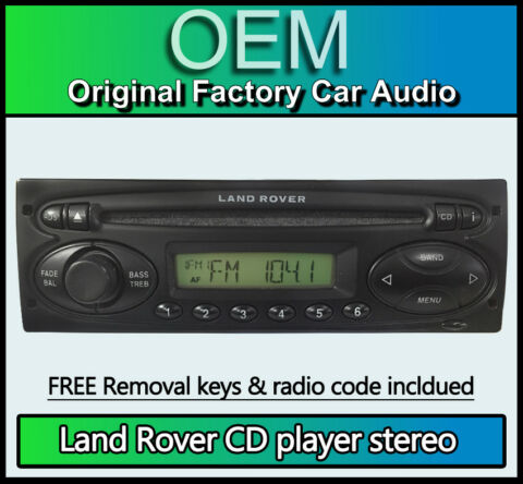 LAND ROVER DEFENDER CD PLAYER VISTEON 6500 STEREO WITH RADIO CODE REMOVAL KEYS