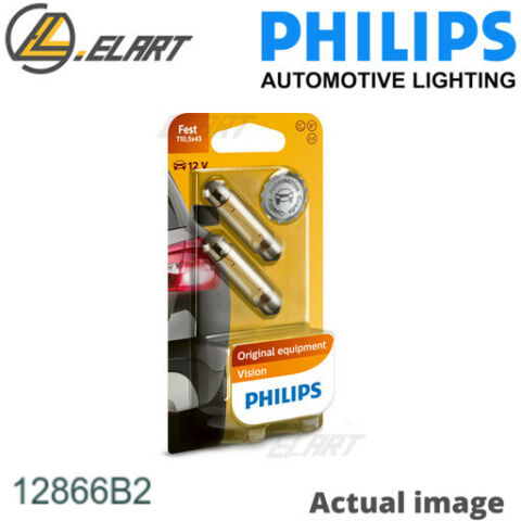 BULB LICENCE PLATE LIGHT FOR FORD OPEL VAUXHALL RENAULT TRUCKS PHILIPS 12866B2