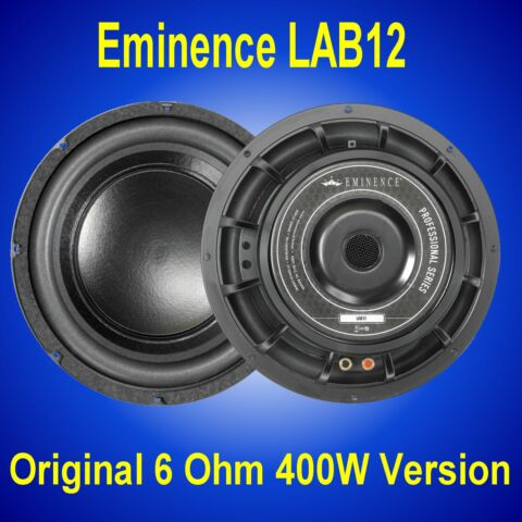 EMINENCE LAB 12 400W 800W 12 6 OHM SUBWOOFER DRIVER