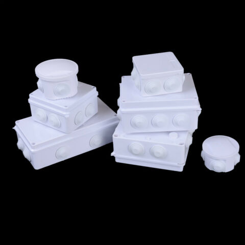 ABS PLASTIC IP65 WATERPROOF JUNCTION BOX DIY OUTDOOR ELECTRICAL CONNECTION FT