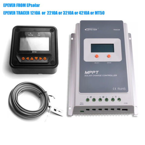 EPEVER 10A 20A 30A 40A MPPT SOLAR PANEL CHARGE CONTROLLER REGULATOR MT50 WIFI CV