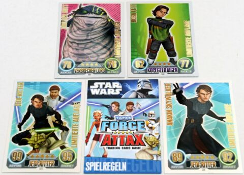 FORCE ATTAX CLONE WARS SERIE 1 FORCE MEISTER STAR LIM KARTEN AUSSUCHEN NEU