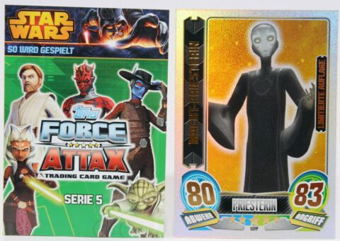 FORCE ATTAX CLONE WARS SERIE 5 FORCE MEISTER STAR LIMITIERTE KARTEN AUSSUCHEN