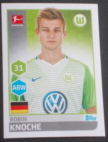 ALDI BUNDESLIGA SAMMEL STICKER NR 264 ROBIN KNOCHE KOLLEKTION 2017 2018