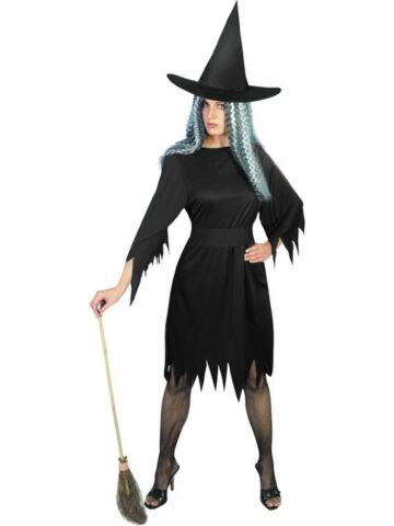 WITCH LADIES WOMENS HALLOWEEN FANCY DRESS COSTUME OUTFIT