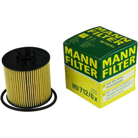 ORIGINAL MANN FILTER LFILTER OELFILTER HU 712 6 X OIL FILTER