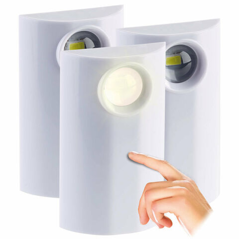 PEARL LED LAMPE MIT BATTERIE BETRIEB TOUCH DIMMBAR 1 BIS 50 LM 3ER SET
