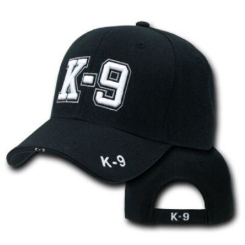 K9 USA POLICE DOG UNIT POLIZEI HUNDE STAFFEL BASEBALL CAP M TZE SCHWARZ