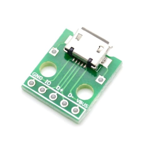 2X254MMUSB TYPEB TO DIP BREAKOUT BOARD 5PIN USB FEMALE CONNECTOR ADAPTER TOP