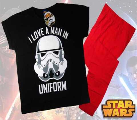 LADIES OFFICIAL STAR WARS I LOVE A MAN IN UNIFORM PYJAMAS PJS STORM TROOPER