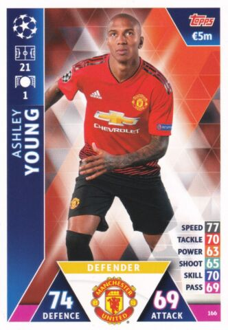 MATCH ATTAX CHAMPIONS LEAGUE 2018 19 A YOUNG MANCHESTER UNITED FC NR 166