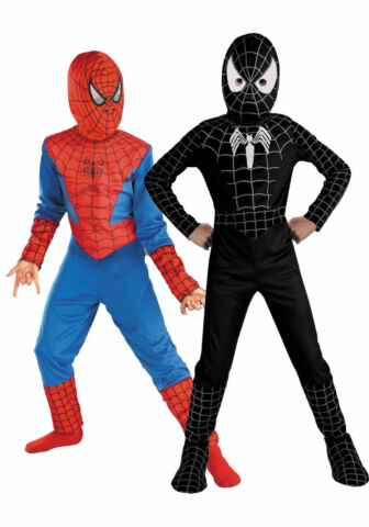 SPIDERMAN COSPLAY KOST M KINDER JUNGEN OUTFIT SETS PARTY KARNEVAL FASCHING