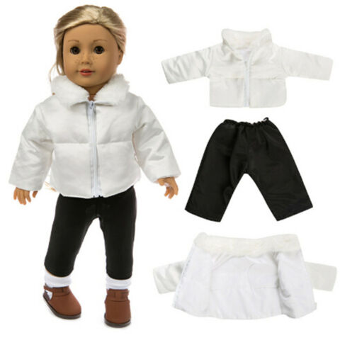 DOLL CLOTHES FIT 18IN DOLL BABY WARM JACKETS PANTS KIDS J