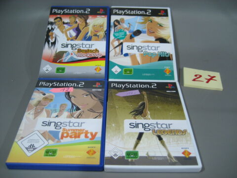 4 X PLAYSTATION 2 SING STAR PS2 PARTY POP DEUTSCH ROCKS LEGENDS 27