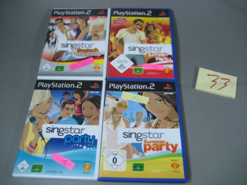 4 X PLAYSTATION 2 SING STAR PS2 PARTY POP DEUTSCH T RKISCH SUMMER 33