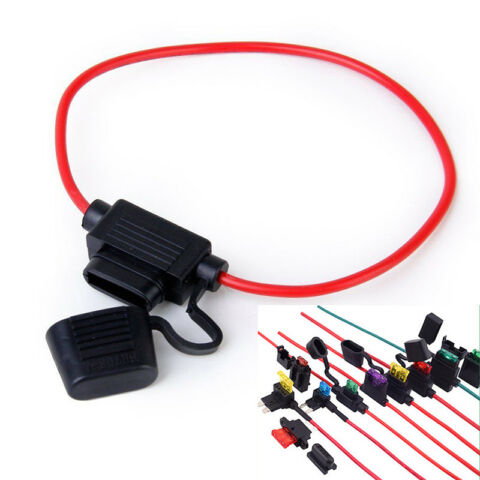 10PCS 40A IN LINE BLADE JFALL FUSE HOLDER FOR CAR BOAT TRUCK AUTO 16 AWG CABLEJF
