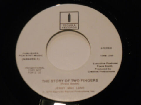 JERRY MAX LANE NM THE STORY OF TWO FINGER 45 PROMO SPIRIT OF BAND TEQUILA WLP