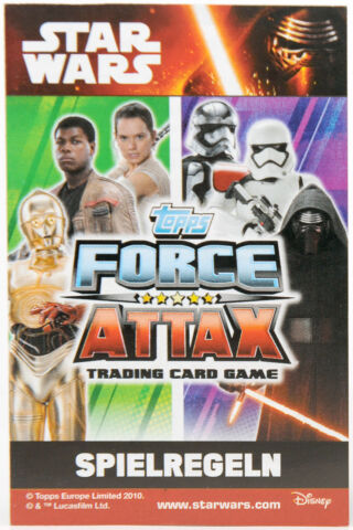 STAR WARS FORCE ATTAX MOVIE SERIE 4 FOLIENKARTEN LIMITIERTE KARTEN AUSSUCHEN