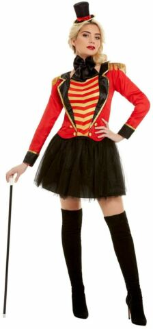 RINGMASTER WOMENS DELUXE FANCY DRESS COSTUME GREATEST SHOWMAN OUTFIT