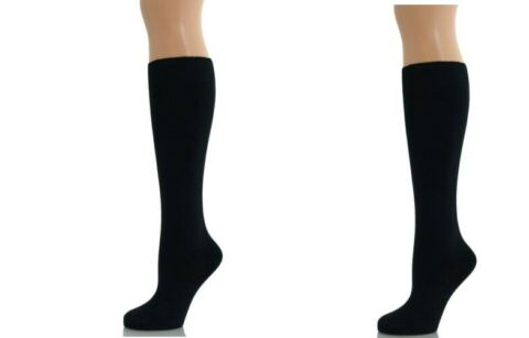 PAIR 1 X WOMENS LADIES BOYS GIRLS KNEE HIGH COTTON SOCKS SCHOOL UNIFORM BLACK4 7