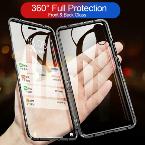 360 MAGNET METALL HANDY H LLE CASE TEMPERIERT GLAS COVER F R IPHONE 7 8 PLUS XS