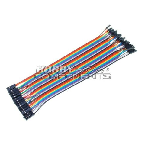 ARDUINO FEMALE TO FEMALE SOLDERLESS DUPONT JUMPER BREADBOARD WIRES 40 CABLE PACK