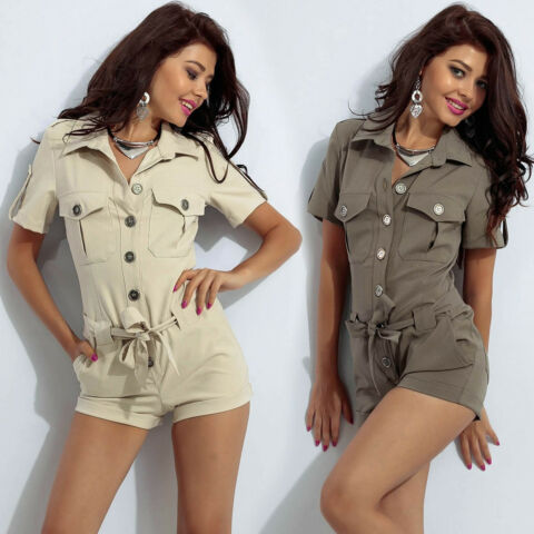 BY ALINA SEXY HOTPANTS OVERALL EINTEILER CATSUIT DAMENOVERALL 34 38 B263