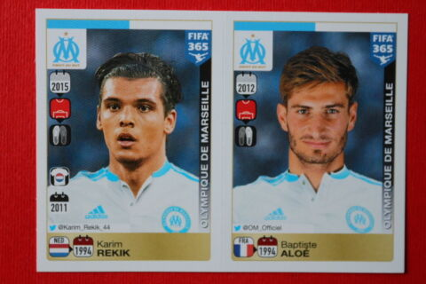 PANINI STICKERS FIFA 365 2016 N 408 409 O MARSEILLE TOP MINT