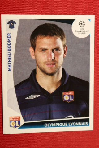 PANINI STICKERS CHAMPIONS LEAGUE 2009 2010 N 306 BODMER O LYONNAIS MINT