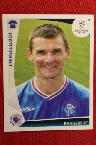 PANINI STICKERS CHAMPIONS LEAGUE 2009 2010 N 440 MCCULLOCH RANGERS FC MINT