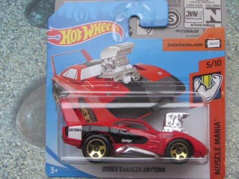 HOT WHEELS 2018 236 365 DODGE CHARGER DAYTONA ROT TOONED MUSKEL MANIA