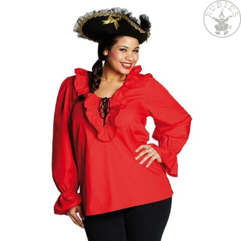 IAL DAMEN KOST M FASCHING HALLOWEEN PIRATENBLUSE BLUSE PIRAT ROT 48 44 46