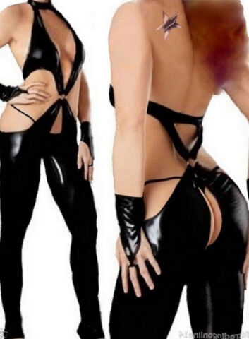 SEXY WETLOOK CATSUIT 38 40 LATEX LACK LEDER STYLE DOMINA GOGO FETISCH