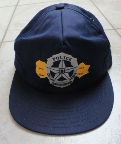 USA POLIZEIM TZE POLICE CAP DALLAS TEXAS POLICE OFFICER ORIGINAL RAR SELTEN