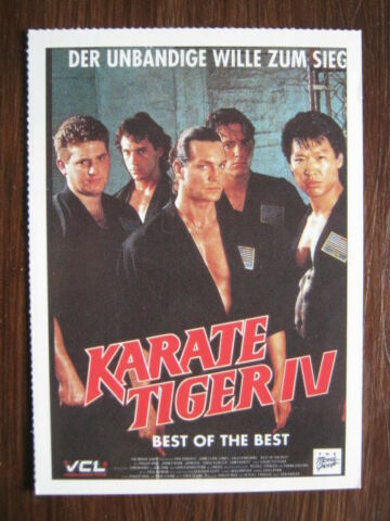 FILMPLAKATKARTE MOVIEPOSTERCARD KARATE TIGER IV BEST OF THE BEST E ROBERTS