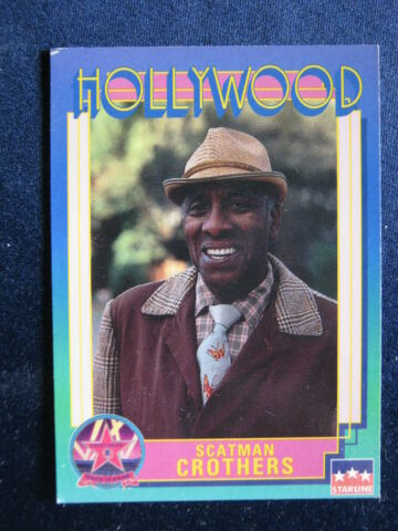 TRADING CARD HOLLYWOOD STARLINE NO 176 SCATMAN CROTHERS