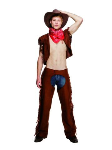 MENS RIDE EM HIGH COWBOY FEVER COSTUME WESTERN FANCY DRESS OUTFIT