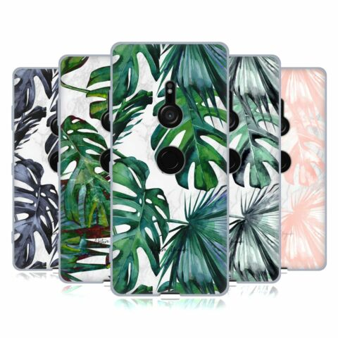 OFFICIAL NATURE MAGICK TROPICAL PALM LEAVES ON MARBLE GEL CASE FOR SONY PHONES 1