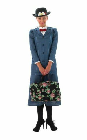 MARY POPPINS LADIES FANCY DRESS COSTUME PARTY OUTFIT SALE ADULT VICTORIAN NANNY
