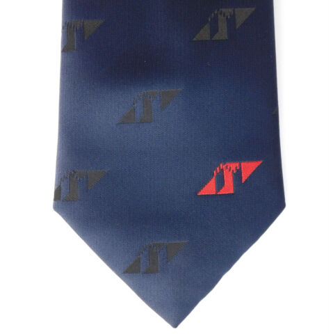 ATV COMPANY TIE LOGO NAVY BLUE TIE RACK CORPORATE UNIFORM CLOTHING