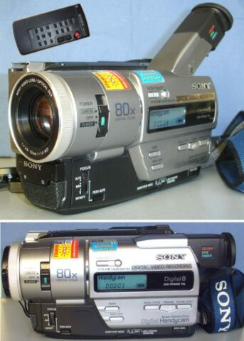 SONY DCR TR7000E PAL DIGITAL 8 HI8 VIDEO8 CAMCORDER 1 JAHR GEW HRLEISTUNG