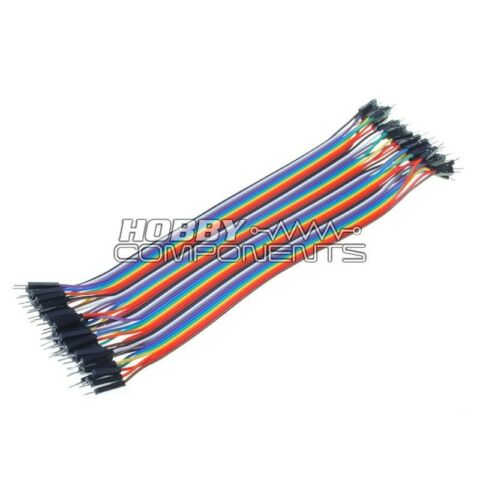 ARDUINO MALE TO MALE SOLDERLESS DUPONT JUMPER BREADBOARD WIRES 40 CABLE PACK