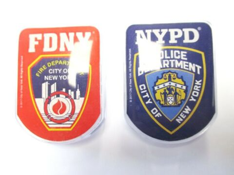 NEW YORK KLAMMER MAGNET FIRE POLICE DEPARTMENT SOUVENIR USA NEW