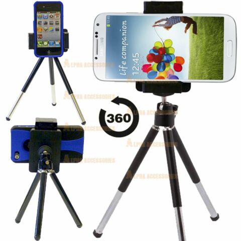 MINI TRIPOD ROTATABLE STAND HOLDER FOR PHONE CAMERA APPLE IPHONE HTC MOBILE