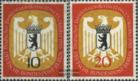 BERLIN WEST 129 130 KOMPL AUSG FDC 1955 BUNDESTAG
