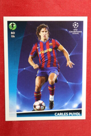 PANINI STICKERS CHAMPIONS LEAGUE 2009 2010 N 552 PUYOL BEST PLAYERS TOP MINT