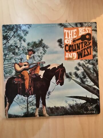 THE BEST OF COUNTRY AND WEST COMPILATION VINYL LP