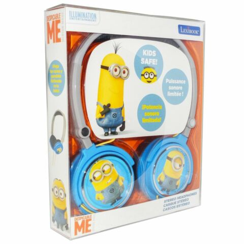 LEXIBOOK DESPICABLE ME MINIONS KIDS SAFE FOLDABLE STEREO HEADPHONES