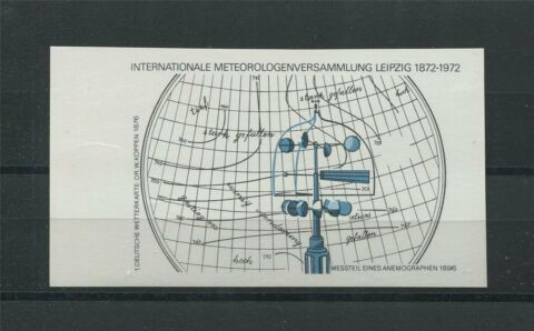 DDR PH BLOCK 34 METEOROLOGIE 1972 PHASENDRUCK 2 PHASE RAND MI 750 C7338